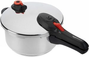 AmazonBasics Stainless Steel Outer Lid Pressure Cooker
